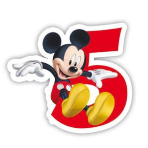 Lumanare cifra 5 Mickey Mouse