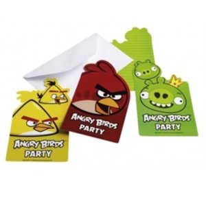 Invitatii party Angry Birds