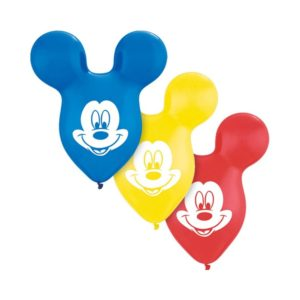 set 5 buc baloane latex urechi mickey mouse