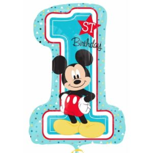 balon folie figurina mickey mouse 1st birthday