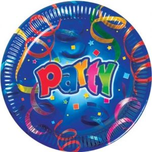Farfurii Party Streamers Prismatic 20 cm