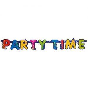 Banner litere Party Streamers Prismatic