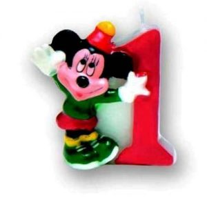 Lumanare cifra 1 Mickey Mouse