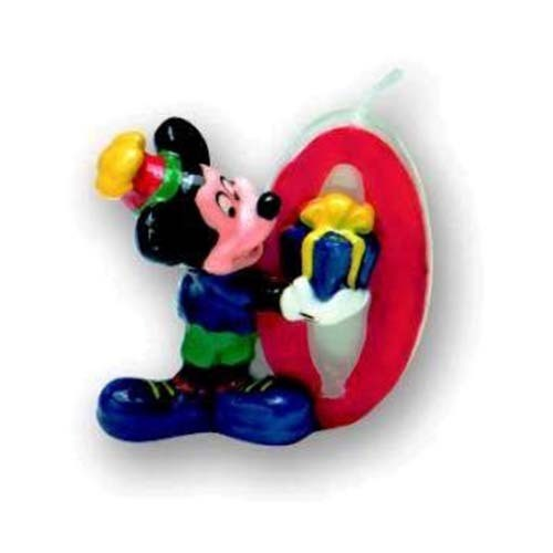 Lumanare cifra 0 Mickey Mouse