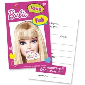 Invitatii party Barbie Fab